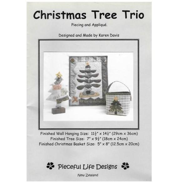 Christmas Tree Trio: Pieceful Life Designs